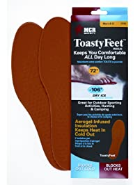 Safety Works CTFM MCR Safety Toasty Feet Mens Shoe Insoles Infused with Aerogel for Sizes 8-12