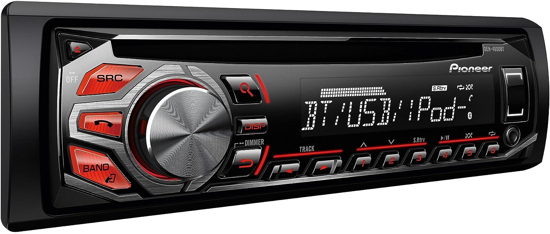 Pioneer DEH-4600BT - Radio con CD para coches, negro: Amazon.es: Electrónica