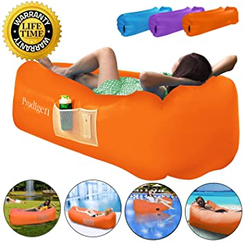 Amazon.com: Prodigen - Tumbona inflable, sofá inflable al ...