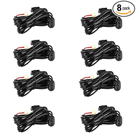 Amazon.com: Eyourlife Wiring Harness,8Pcs LED Light Bar ... on off-road light bars, lag bolting down light bars, lihgt and police lights bars,