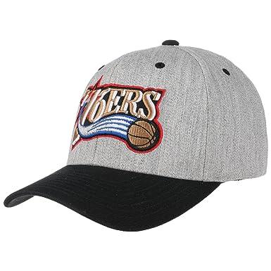 abfd7532 Mitchell & Ness Philadelphia 76ers Snapback Cap - Team Logo 2-Tone - Grey-