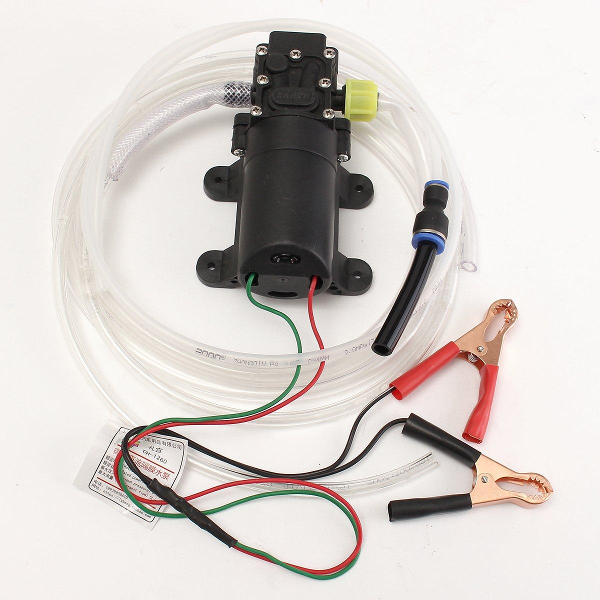 12V Oil Fluid Liquid Extractor 4.0L Boat Pump Oil Change Pump Kit Ologymart