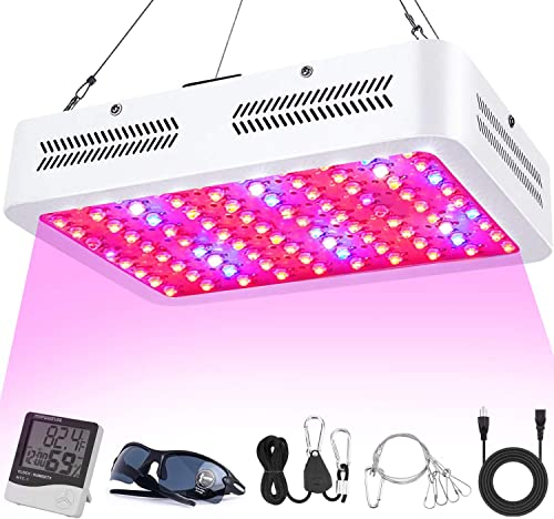 LED Grow Lights, 1000W Full Spectrum Powerful Grow Light with Bloom and Veg Switches, Daisy Chain Available, Plant Lights for Greenhouse Indoor Plant Veg and Flower 2020 Upgraded
