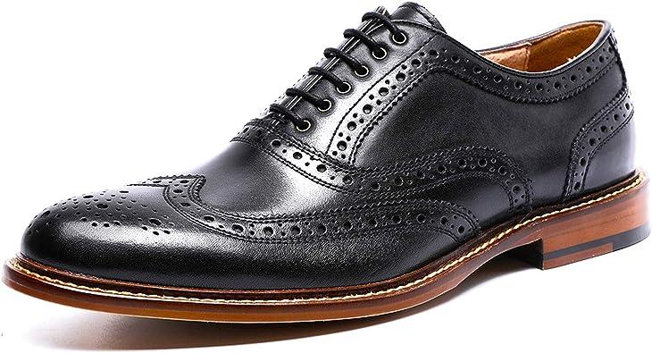 DESAI Homme Chaussures de Ville à Lacets Habillé Oxford Noir