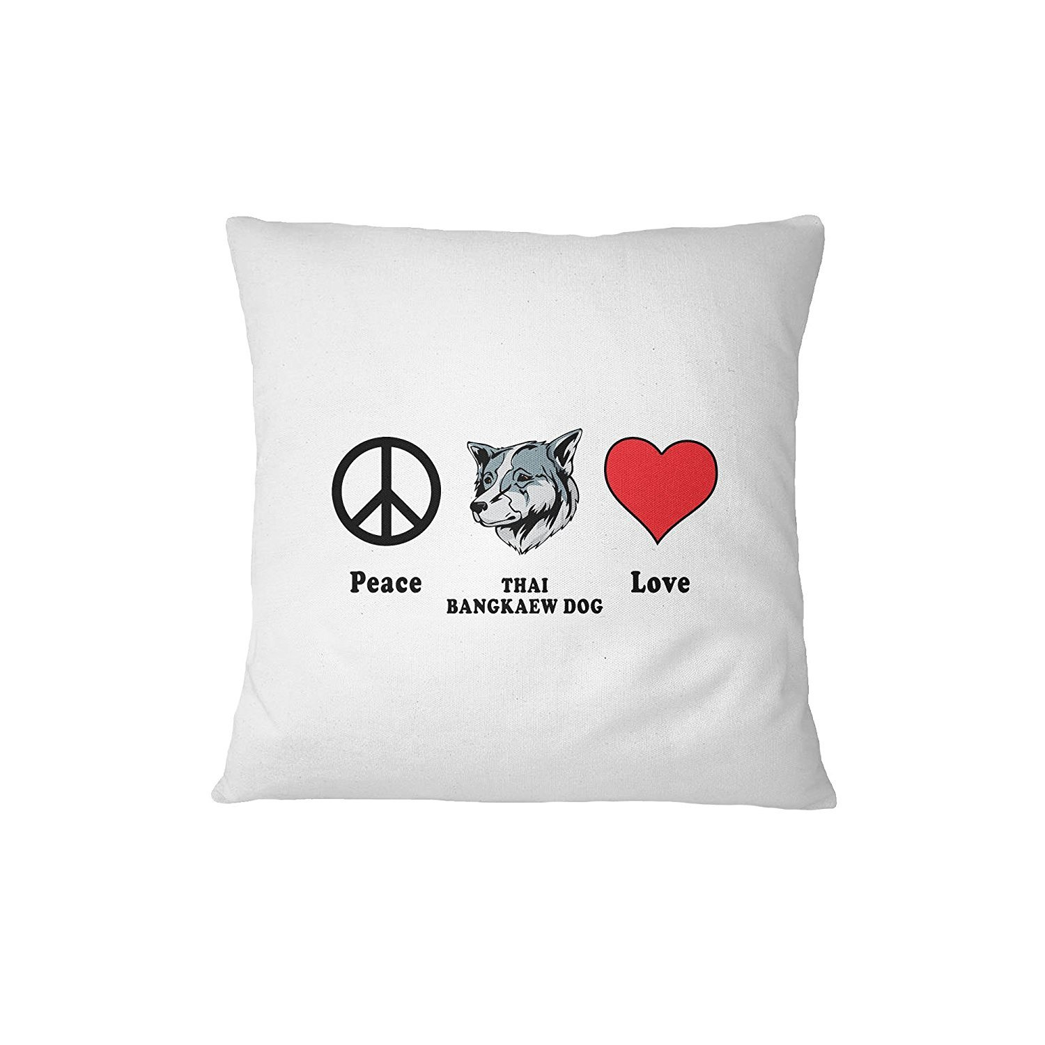 THAI BANGKAEW DOG Peace Love Sofa Bed Home Decor Pillow Cover Cover Only ArtsLifes