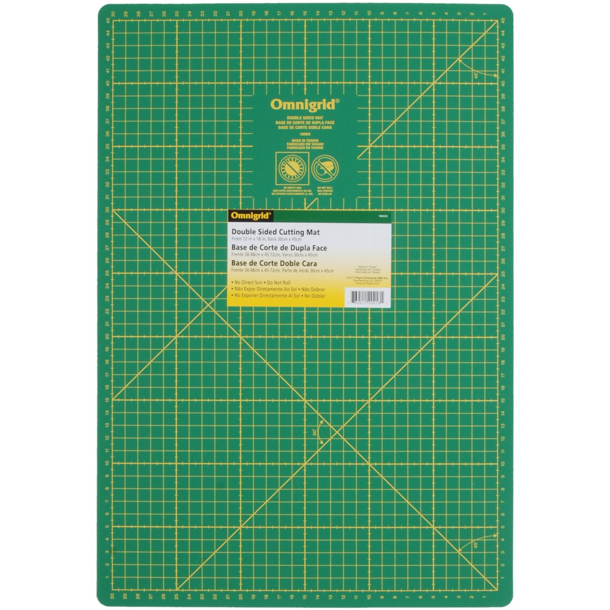 Amazon com: Dritz 18MDS Omnigrid Double Sided Mat, 12 by 18-Inch