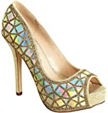 Amazon.com | Qupid Iridescent Metallic Embellished Open