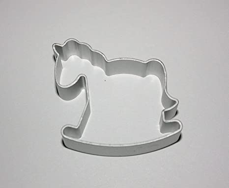 Biscotti Cavallo A Dondolo Pasta Di Zucchero.Cutter In Metallo A Forma Di Cavallo A Dondolo Pasta Di