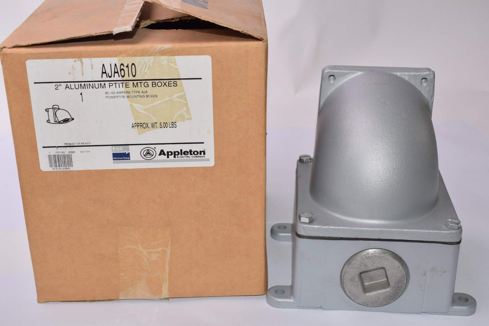 Appleton AJA610 Back Box and Adapter, 2''