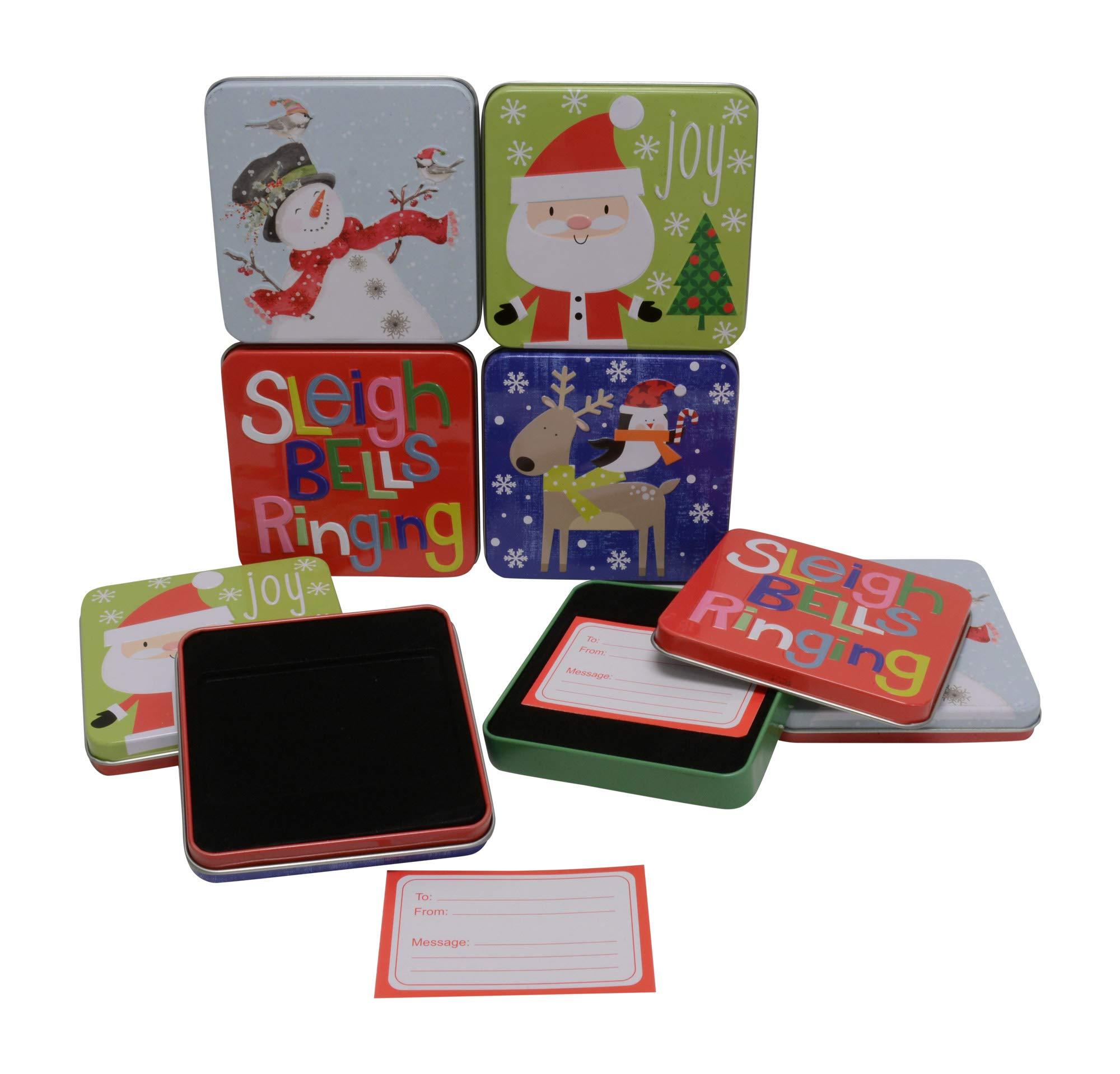 Amazon.com: Christmas Gift Tins, Small Box For Gift Card