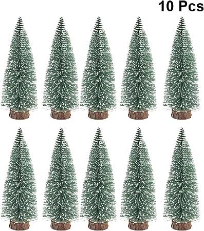 Vosarea 10pz árbol de navidad árboles de mesa artificiales decoraciones de navidad fiesta de navidad favorece regalos para niños decoración de fiesta temática de navidad (10 cm): Amazon.es: Hogar