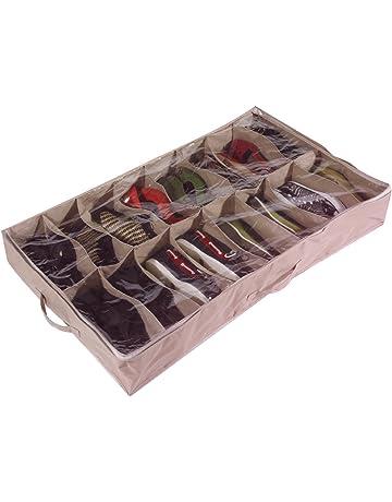 Caja organizadora de zapatos para debajo de la cama (para 16 pares, de robusta