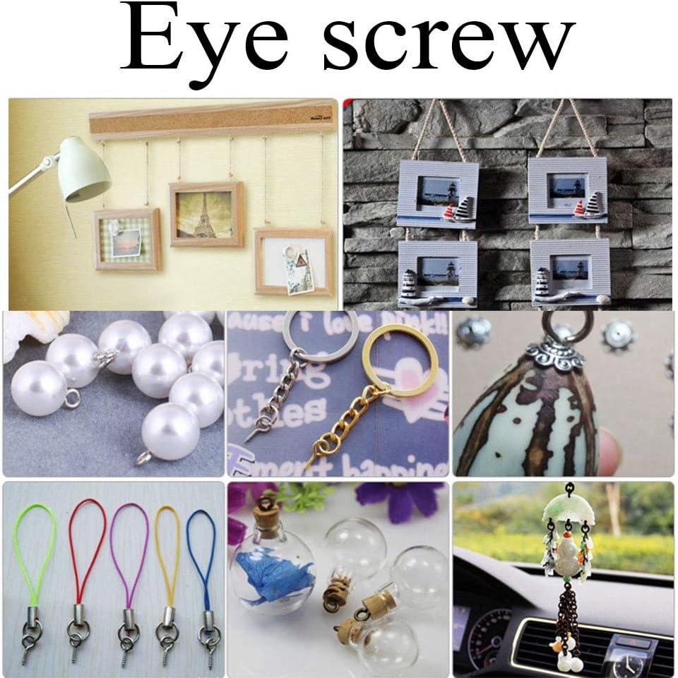Pro Bamboo Kitchen Eyelets Screw 30PCS 1 Inches Screw Eye Pins Eye Pins Hooks