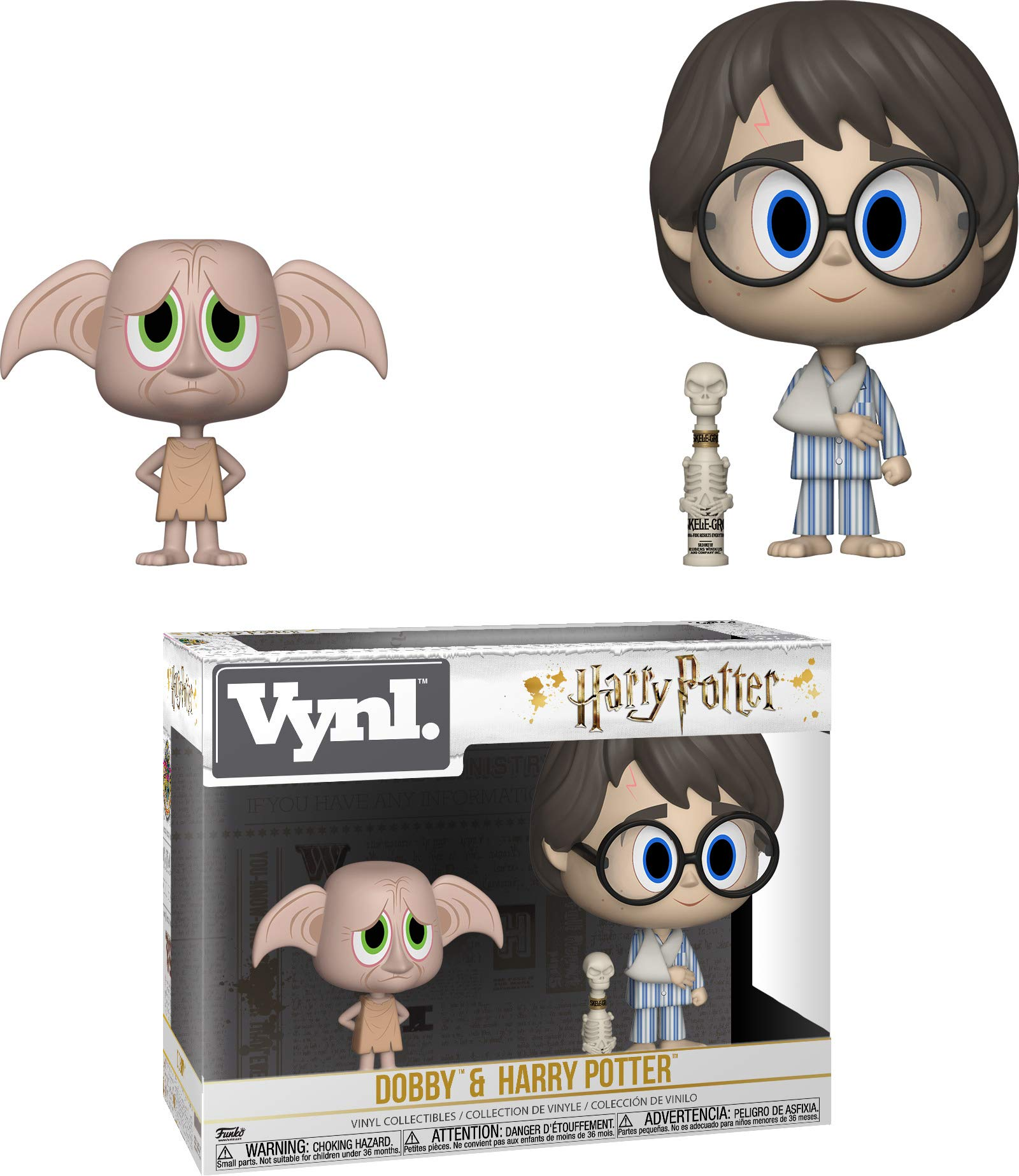 Funko 31001 VYNL 4 Inch 2-Pack: Harry Potter: Dobby and Harry