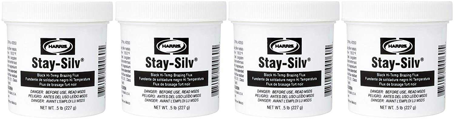 Harris SSBF1 Stay Silv Brazing Flux, 1 lb. Jar, Black: Amazon.com: Industrial & Scientific