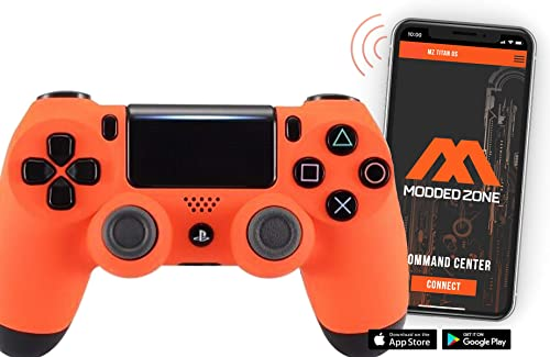 Smart Soft Touch Orange PS4 Rapid Fire Custom Modded Controller review