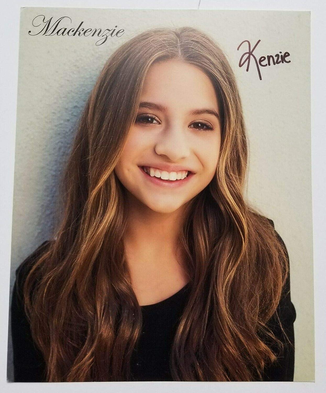 Mackenzie Ziegler Real Hand Signed Promo Photo 2 Coa Kenzie