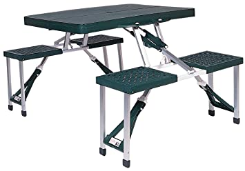 Lovely Stansport Portable Picnic Table (Green)