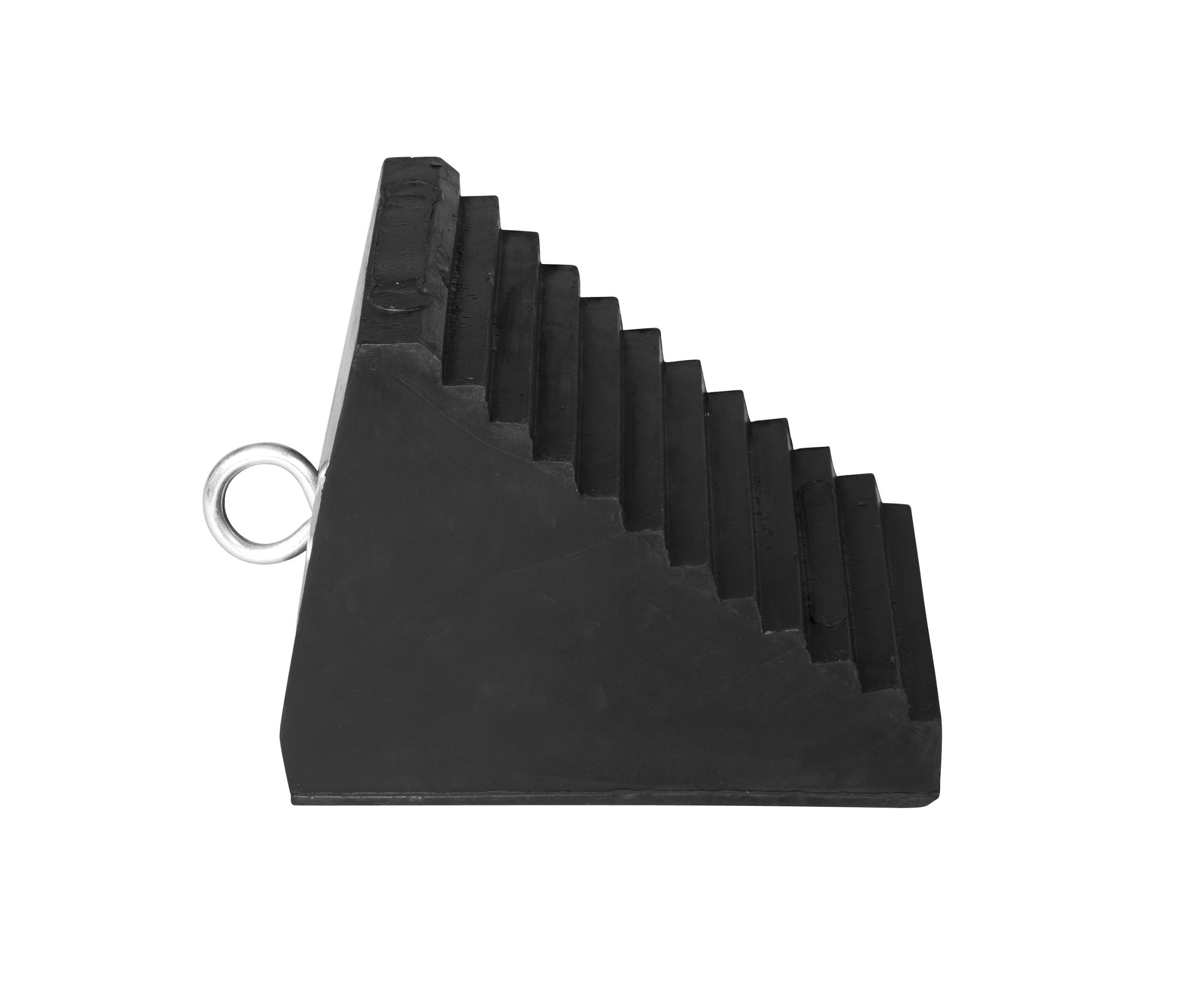 IRONguard 60-7258 MWC-32 Rubber Wheel Chock with Eye Hook, 8-1/2'' Height x 6-1/2'' Width x 9-1/2'' Length
