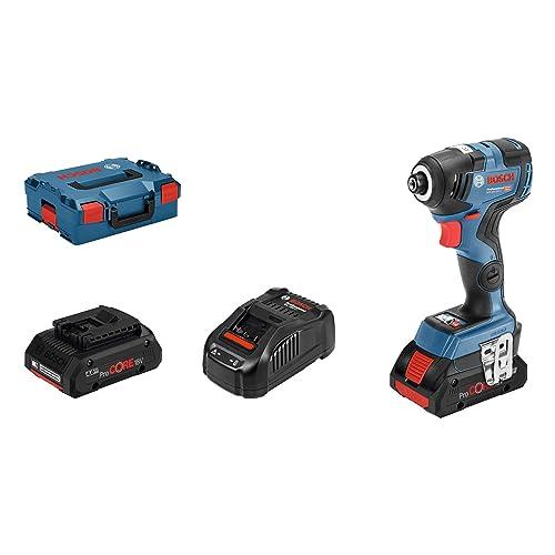 Bosch Professional GDR 18V 200 C Atornillador de impacto a batería 2 baterías ProCore x 4 0Ah 18V 200 Nm tornillos hasta M16 en L BOXX