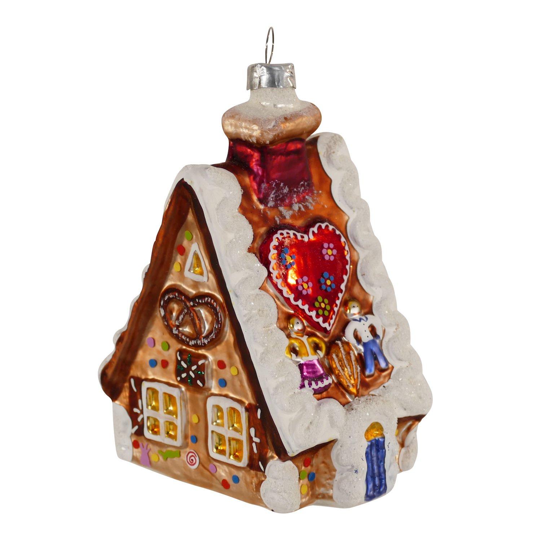 Glasanhänger Lebkuchenhaus Christbaumschmuck Weihnachtsschmuck mundgeblasen