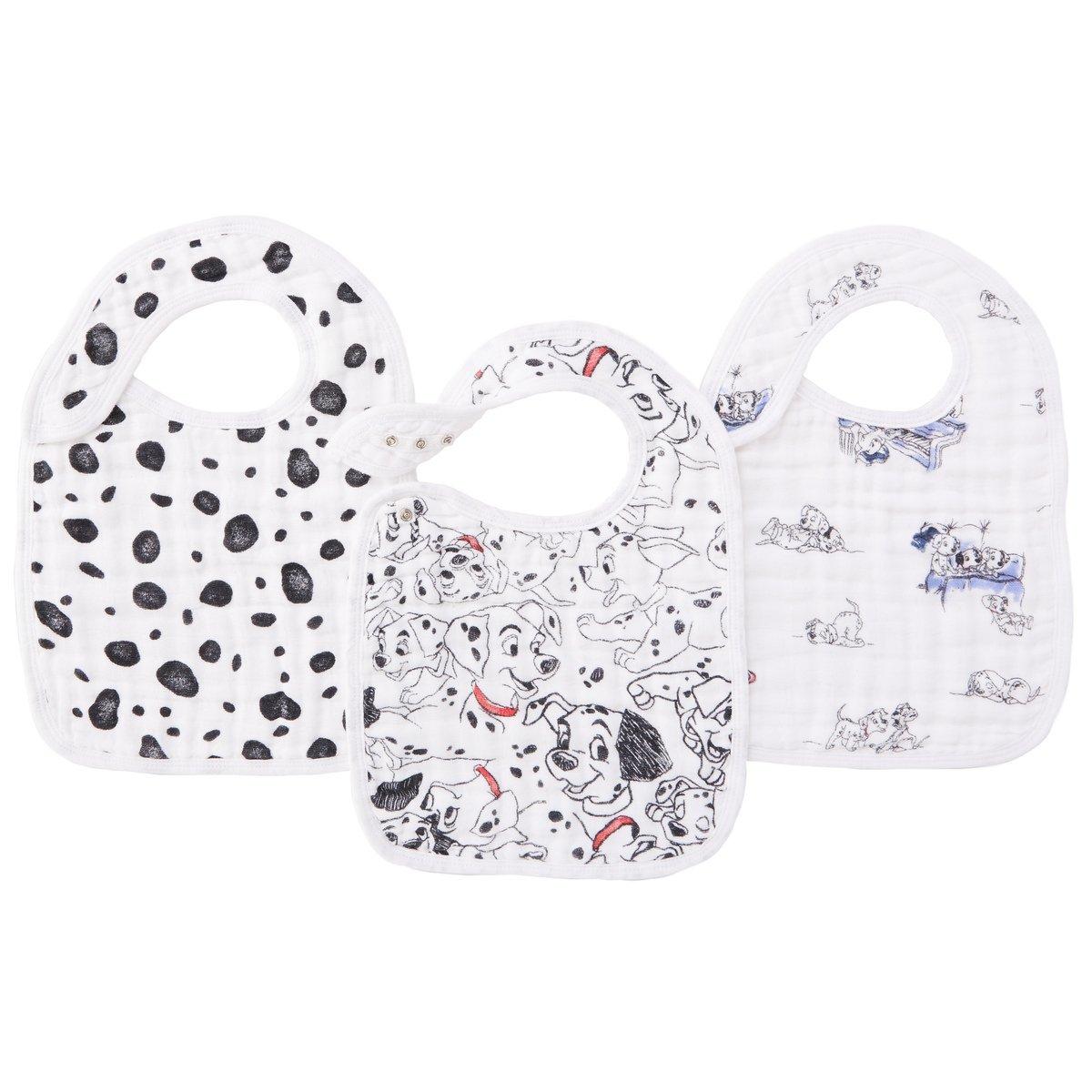 Aden Anais Disney Baby 101 Dalmatiner Lätzchen Mit Druckknöpfen Musselin Aus 100 Baumwolle 22cm X 30cm 3er Pack Baby