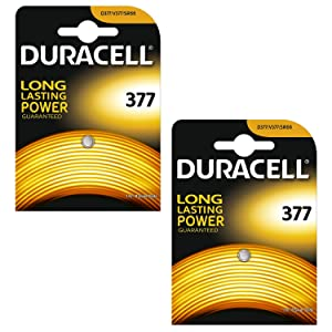 2 X Duracell 377 SR626SW SB-AW AG4 1.55v Silver Oxide Watch Battery