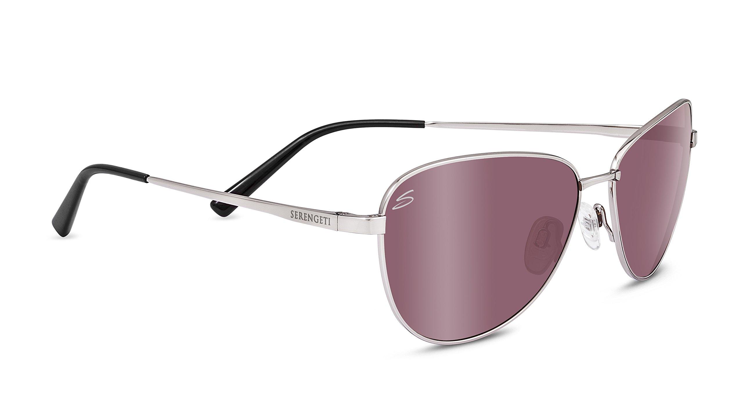 Serengeti 8413 Gloria Polarized Sedona Bi Mirror Sunglasses, Satin Titanium by Serengeti (Image #1)