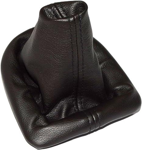 Soufflet de levier de vitesse en cuir noir