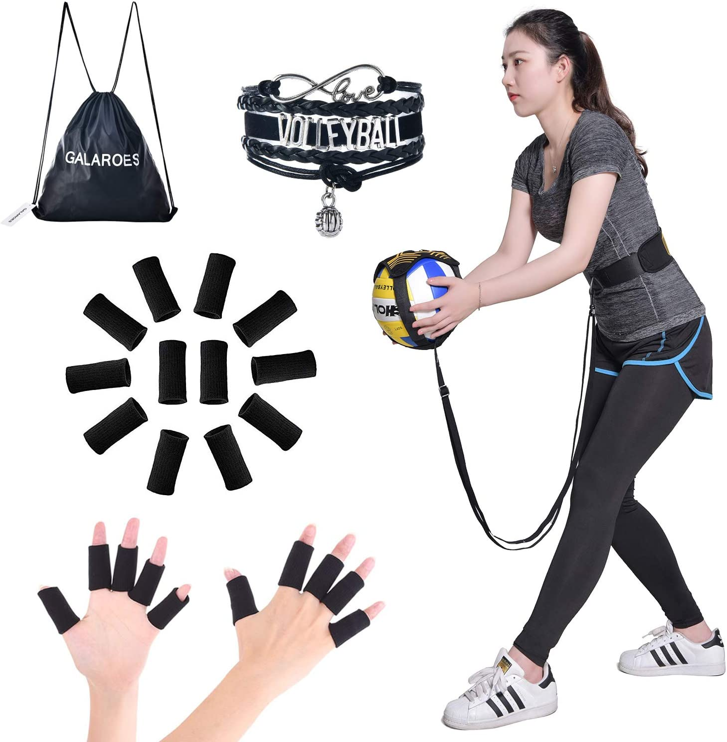 Setting /& Spiking wit Practice Your Serving Volleyball Training Equipment Aid