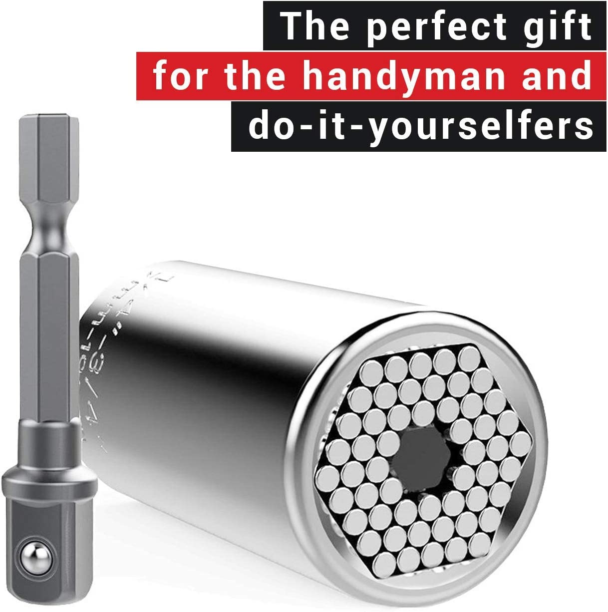 New Universal Hex Nut Socket Wrench Grip Tool 7-19mm Attachment For Power Drill