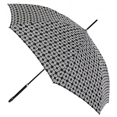 Paraguas largo mujer estampado Vogue automatico antiviento negro