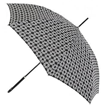 Paraguas largo mujer estampado Vogue automatico antiviento negro: Amazon.es: Equipaje