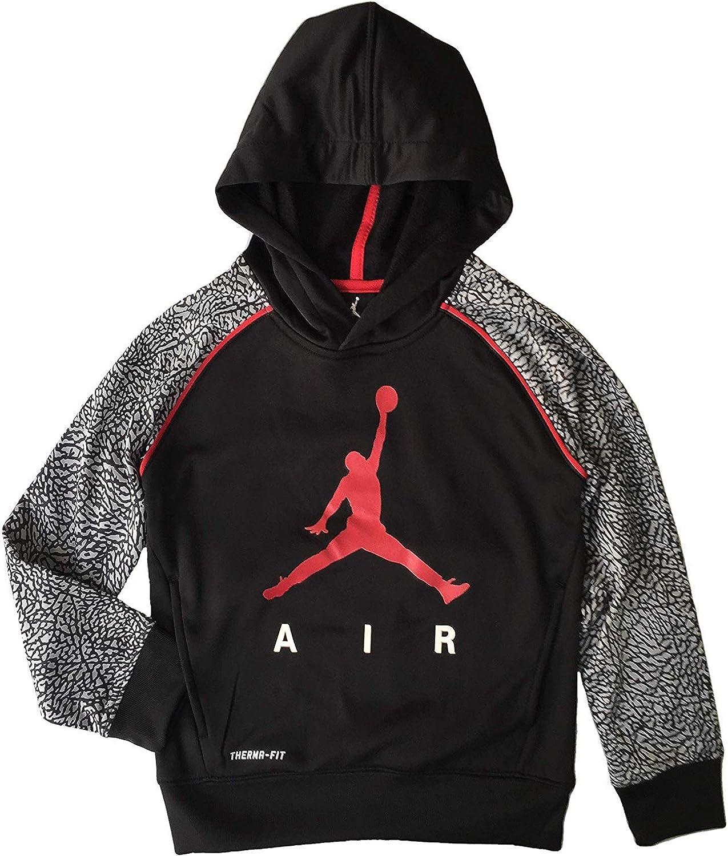 Jordan Nike Jumpman Little Boys Elephant Print Therma-Fit Pullover Hoodie
