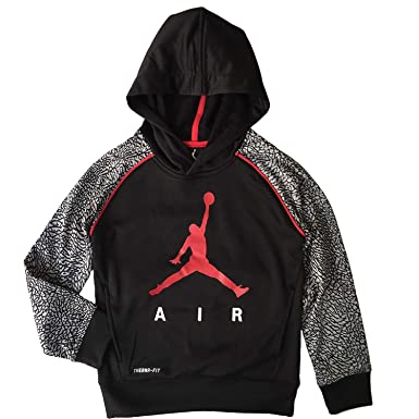 966f9798570 Jordan Nike Jumpman Little Boys' Elephant Print Therma-Fit Pullover Hoodie  (4/