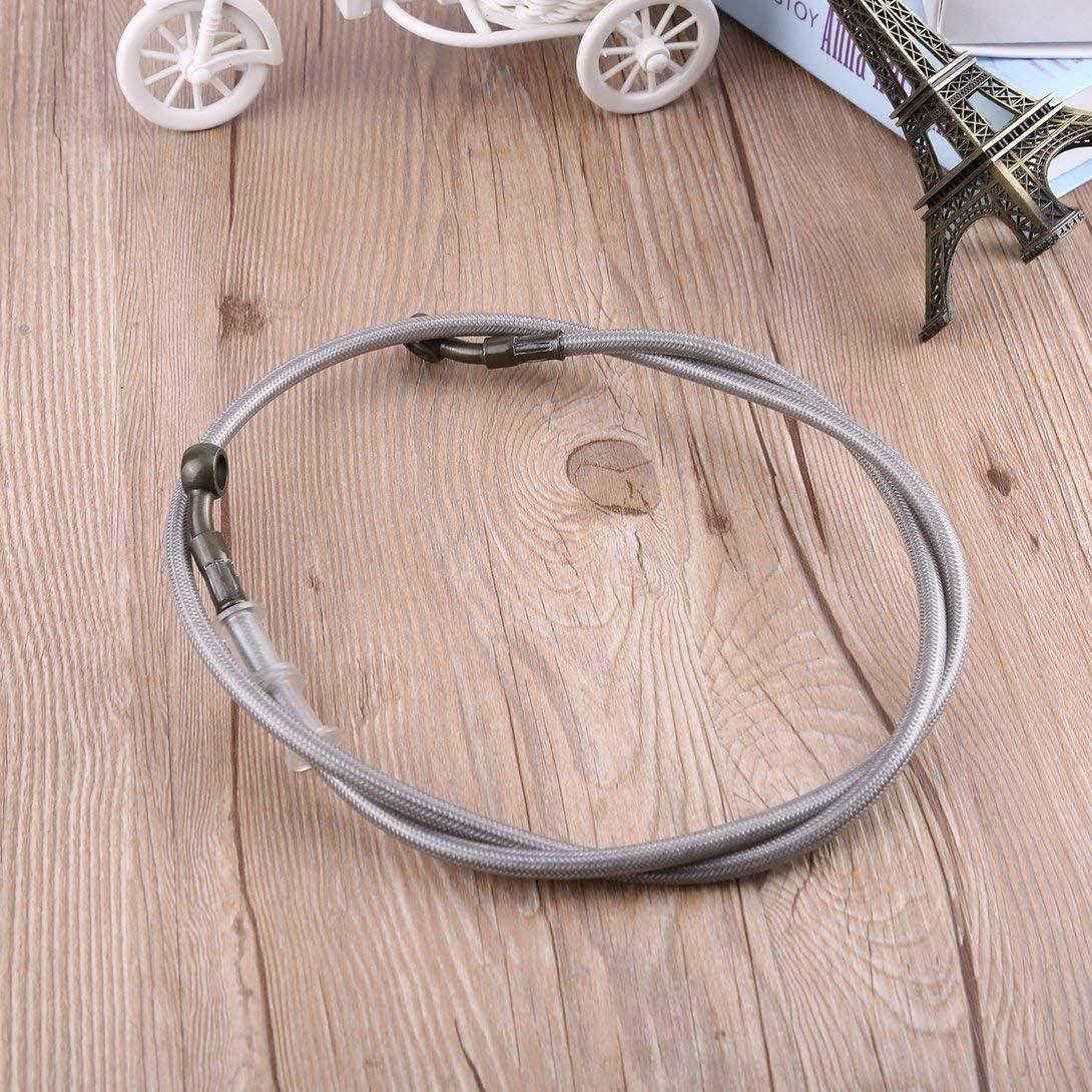 Swiftswan Motorcycle Braided Steel Brake Clutch Oil Hose Pipe,Motorcycle Brake Pipe Braided Steel Hydraulic Reinforce Brake Clutch Oil Hose Line Pipe Tube for Racing Dirt Bike