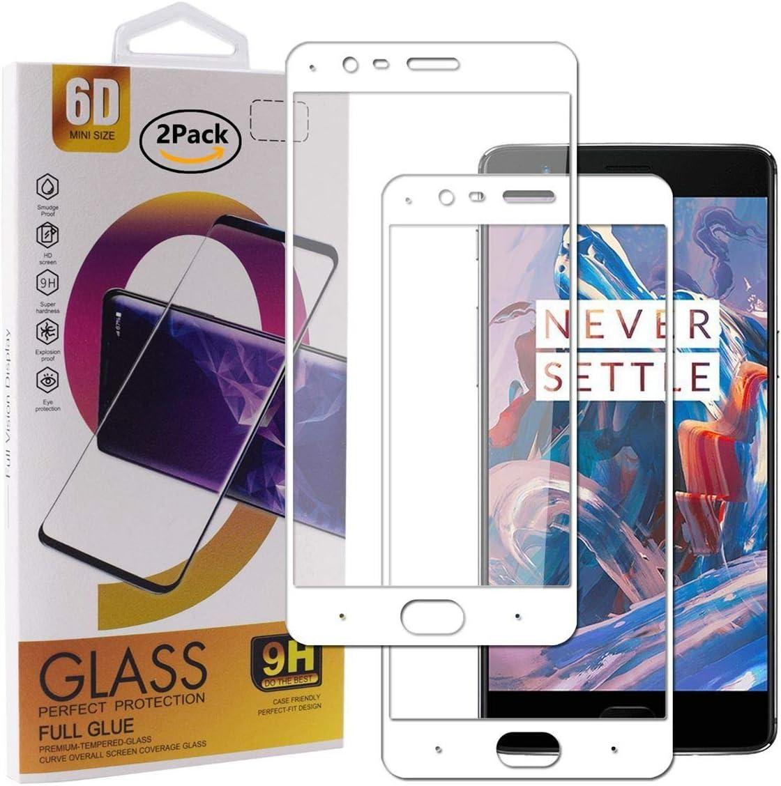 Guran [2 Paquete Protector de Pantalla para Oneplus 3 / Oneplus 3T Smartphone Cobertura Completa Protección 9H Dureza Alta Definicion Vidrio Templado Película: Amazon.es: Electrónica