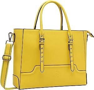 Laptop Tote Bag,15.6 Inch Laptop Bag for Women Business Bag Teacher Computer Bag by EaseGave,Lemon