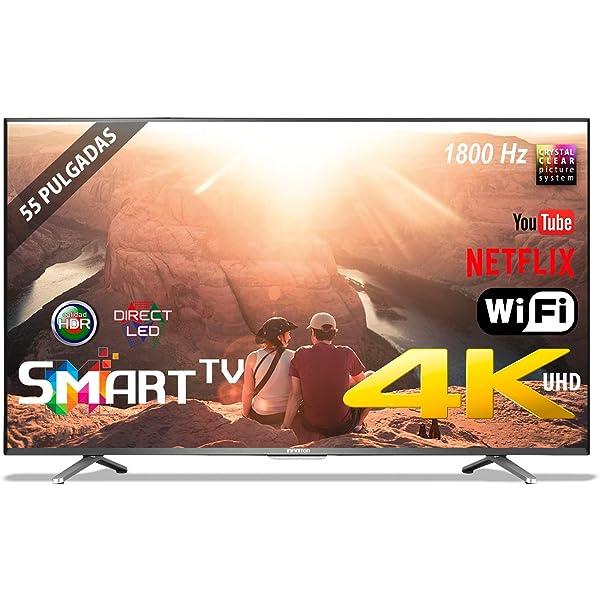 Television Smart TV 58 Pulgadas 4K, Android 9.0 y Hbbtv, UHD HDR10, 1500 PCI Hz, 3X HDMI, 2X USB, DVB-T2/C/S2, Modo Hotel - Televisores TD Systems K58DLJ10US. TDsystems: Amazon.es: Electrónica