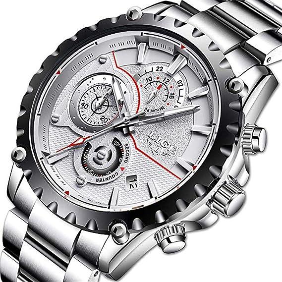 Relojes para Hombre, Relojes LIGE para Hombre, Resistente al ...