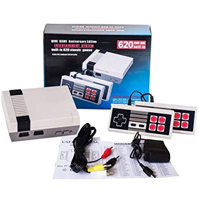 PANDA100 Classic Game Consoles,AV Output TV Game System,Built-in 620 TV Video Game with Dual Control 8-Bit Console Handheld Game Player Console for Children Family Entertainment: Toys & Games [5Bkhe1804385]