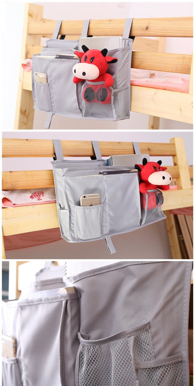 Everyday Bedside Hanging Storage Mattress Armrest Chair Desk TV Remote Controller Holder Organizer Bag Table Cabinet Magazine Book Remote Caddy Pouch, 7 Pockets