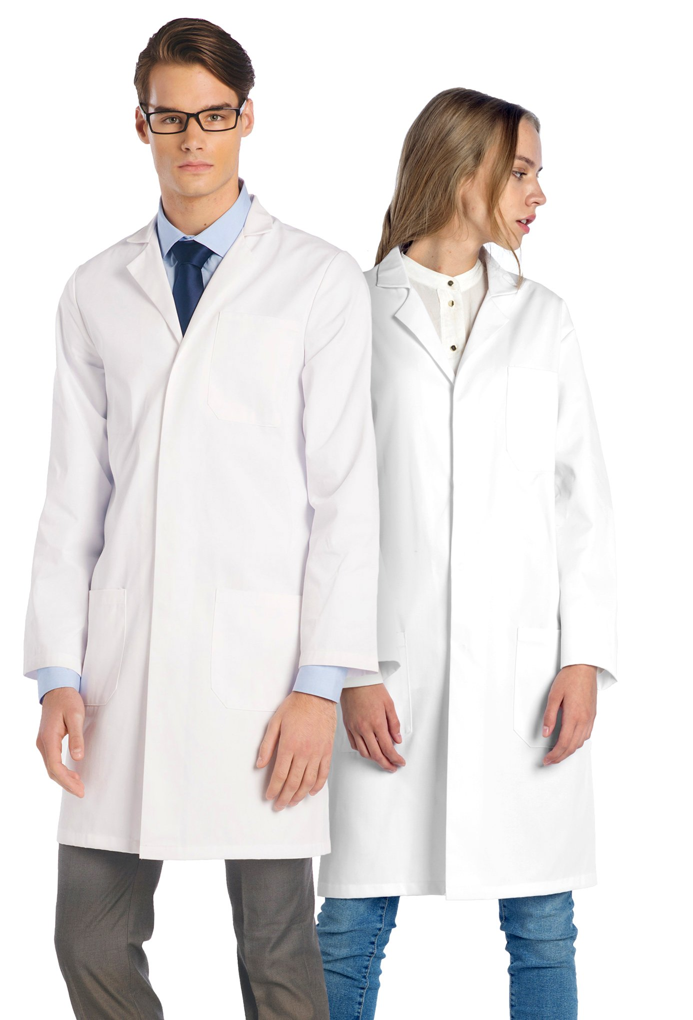 Dr. James Professional Unisex Lab Coat 39 Inch Length US-01-4XL