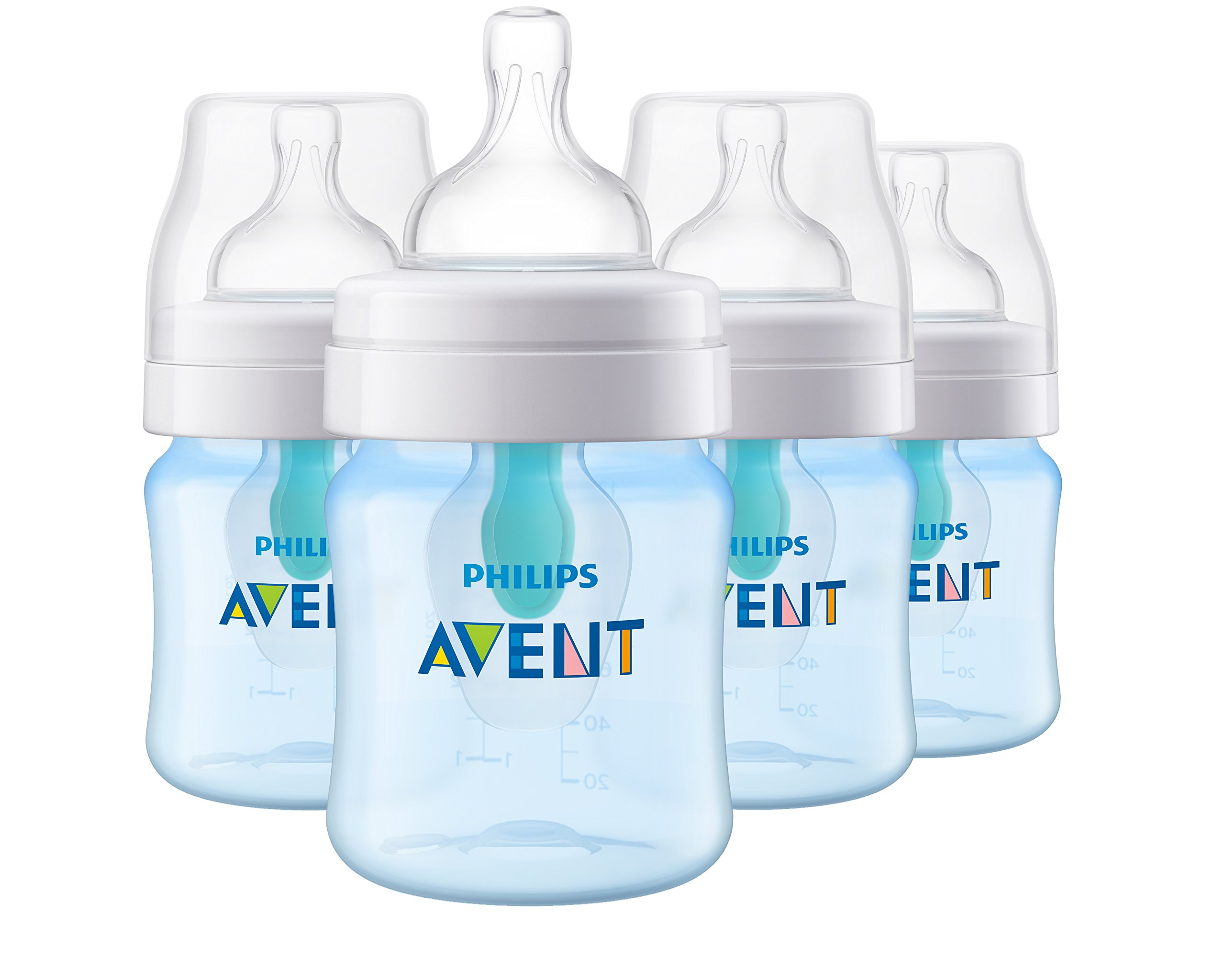 86868537f5d Philips Avent Anti-Colic Baby Bottle with AirFree Vent 4oz 4pk ...