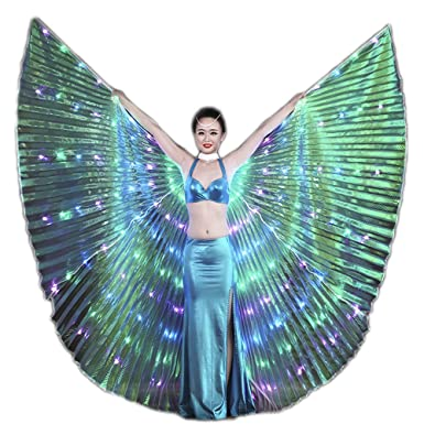 a0c83c8cf Image Unavailable. Image not available for. Color: Dance-led LED ISIS Wings  light up cape wedding belly dance party club wear glow