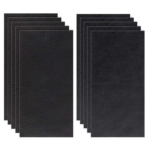 Siyaqi Kit de Parche de Piel, 10 Unidades Pegatina de reparación de Parches de 20 cm x 10 cm, despegar y Pegar para Asiento de Coche, Muebles, ...