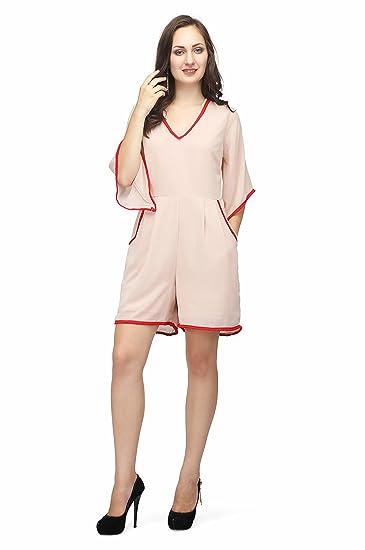 Karmic Vision Georgette 34th Sleeve Womens Casual Wear Jumpsuit