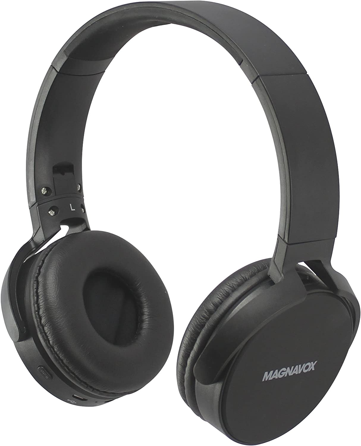 Magnavox MHB542-BK Wireless New DJ Flat Foldable Headphones Black