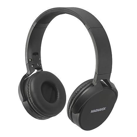 ea055a1fd83 Amazon.com: Magnavox MHB542-BK Wireless New DJ Flat Foldable Headphones  Black: Electronics