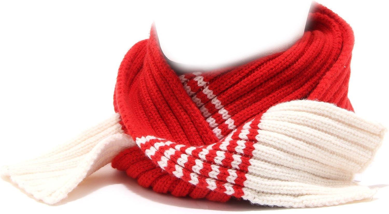Gucci 0674R sciarpa uomo lana rosso/bianco scarf wool men